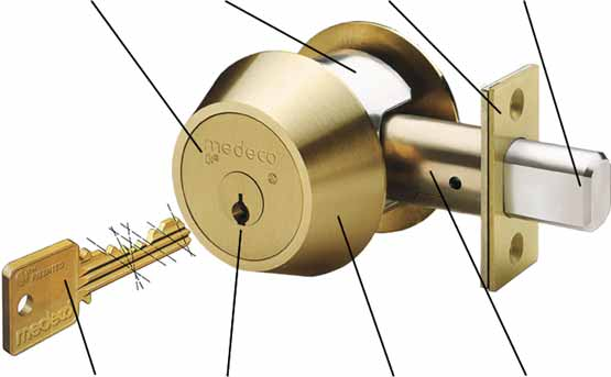 Bump Proof Door Lock Cylinder Medeco High Security Locks